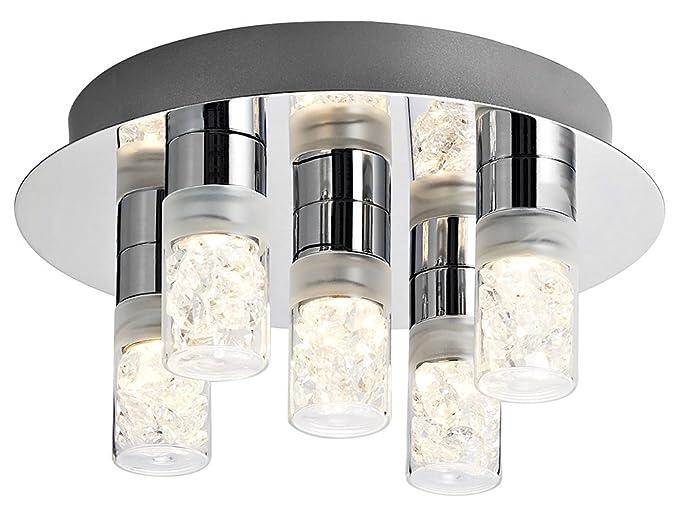 Plafoniere Cristallo Bagno : Moderno e unico led plafoniera da bagno con paralumi in vetro