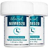 Ebanel 2-Pack 5% Lidocaine Topical Numbing Cream Maximum Strength, 2.7 Oz Pain Relief Cream Anesthetic Cream Infused…