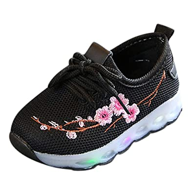 Chaussure Enfants Fille LED Sneakers de Hiver Chaussures