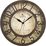 Cheap FirsTime Brown Crackle Wall Clock in Oil Rubbed Bronze