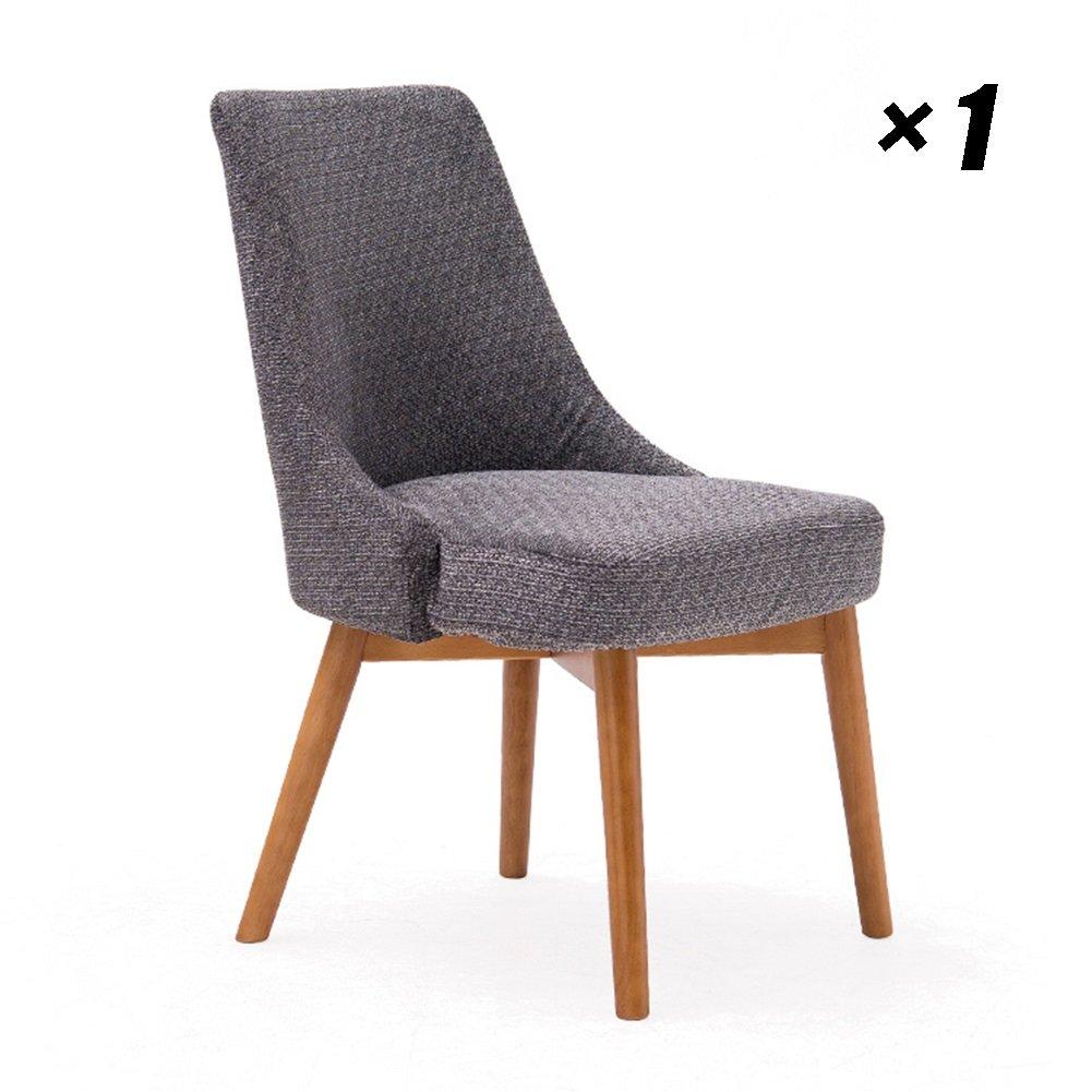 シンプルなホテルダイニングチェア家庭用ラウンジチェアソリッドウッドの会議用椅子キッチン、カフェ、オフィス用53.5×61×83cm (色 : Red oak color, サイズ さいず : Set of 1) B07F9NFJW4Red oak color Set of 1
