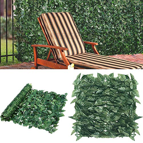 Goasis Lawn Artificial Hedge Fence Panels Topiary Hedge Boxwood Plant Privacy Screen Outdoor Indoor Use Garden Fence Backyard Home Decor Greenery Walls, 4 Rolls