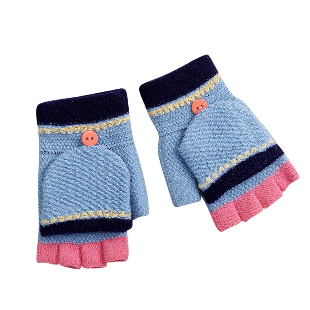 Little Kids Winter Warm Gloves, Colorful(TM) Children Girls Boys Winter Candy Color Patchwork Keep Warm Mittens Gloves for 0-3 Years Old