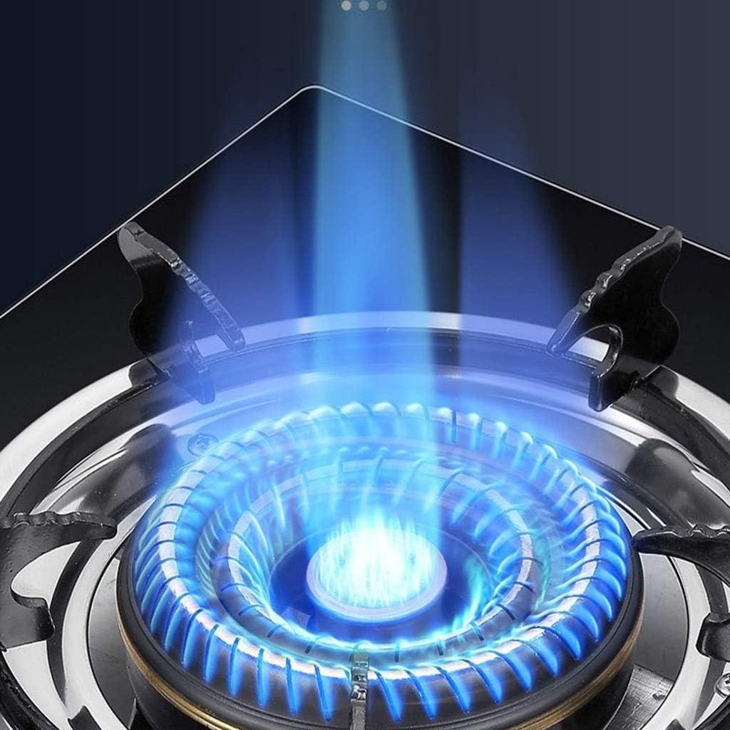 Placa de gas Olla Negro de vidrio templado Cocina de gas 5.3 ...