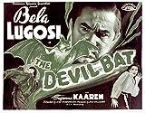 The Devil Bat Bela Lugosi Suzanne Kaaren 1940 Movie Poster Masterprint (14 x 11)