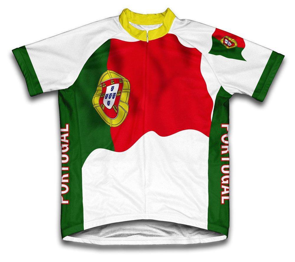 Portugal Flag Radsport Trikot mit kurzer Ärmel für Menner