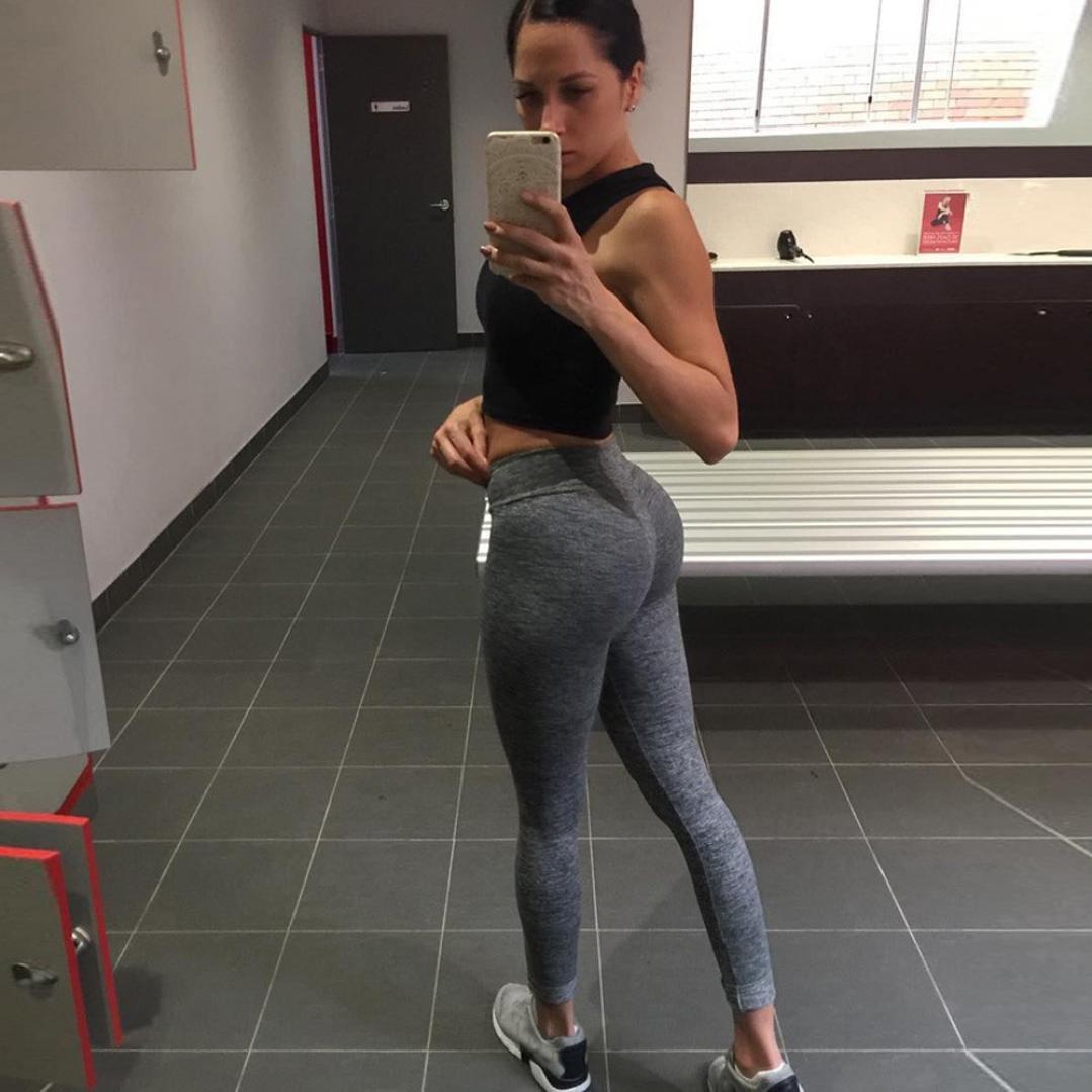 f519e9713d6e9 E-Scenery Yoga Pants & Leggings Women's Butt Lift Leggings Super Soft Yoga  Pants High Waist Skinny Sports Fitness Pants Medium Dark Gray: Amazon.in:  ...