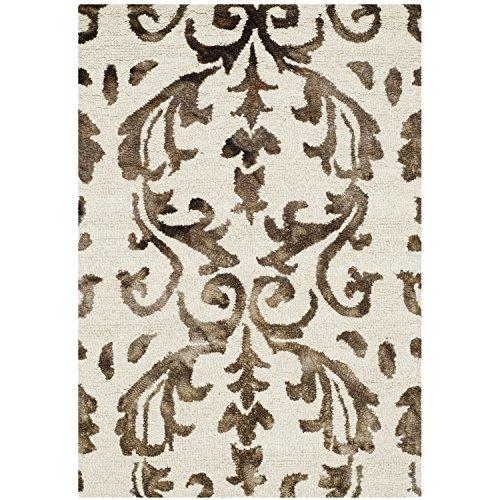 Safavieh Dip Dye Collection DDY689B Handmade Geometric Watercolor Ivory and Chocolate Wool Area Rug 2 x 3
