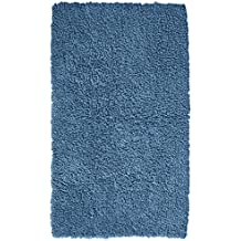 Pinzon 100% Cotton Looped Bath Rug with Non-Slip Backing - 21 x 34 inch, Marine