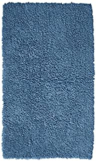 Pinzon Luxury Loop Cotton Bath Mat – 21 x 34 inch, Marine