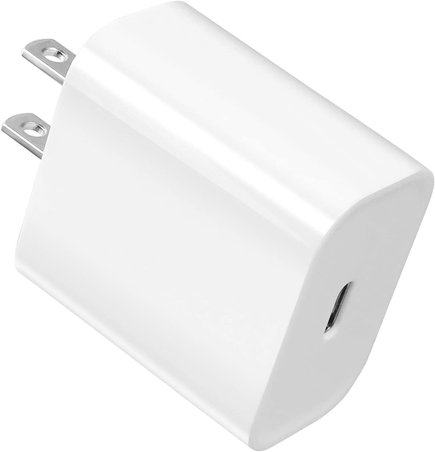 20W PD USB-C Power Adapter Charger for iPhone 12/12Pro/12Pro Max/12Mini/11/XR, Fast USB Type C PD Charger for AirPods Pro, iPad Pro, Pixel 4/3 Charger Block