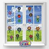 JesPlay Flowers Flexible Gel Clings - Glass Window