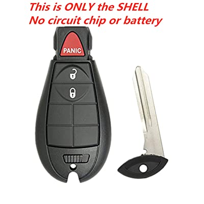 KAWIHEN Keyless Entry Remote Key Fob Shell Replacement for 2013 2014 2015 2016 2020 2020 Dodge Ram 1500 2500 3500 key fob case GQ4-53T 1470A-34T 56046953 56046953AC 56046953AE 56046953AG(Just a Case): Automotive