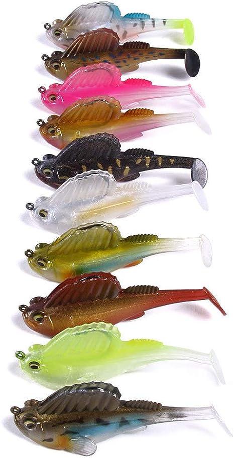 Soft Bait Lead Jig Dark Sleeper Swimbaits Fishing Pike Lure Bass ShaYXUSDX5 XG