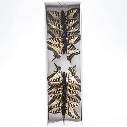 Amazon Com 3 Feather Earth Tone Monarch Butterfly Decorations