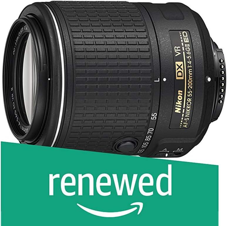 Nikon 55-200mm f/4-5.6G VR II DX AF-S ED Zoom-Nikkor Lens (Renewed)