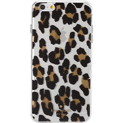 big sale c9c23 52980 Kate Spade New York Leopard Clear Phone Case for iPhone 6 Plus Clear Multi  One Size