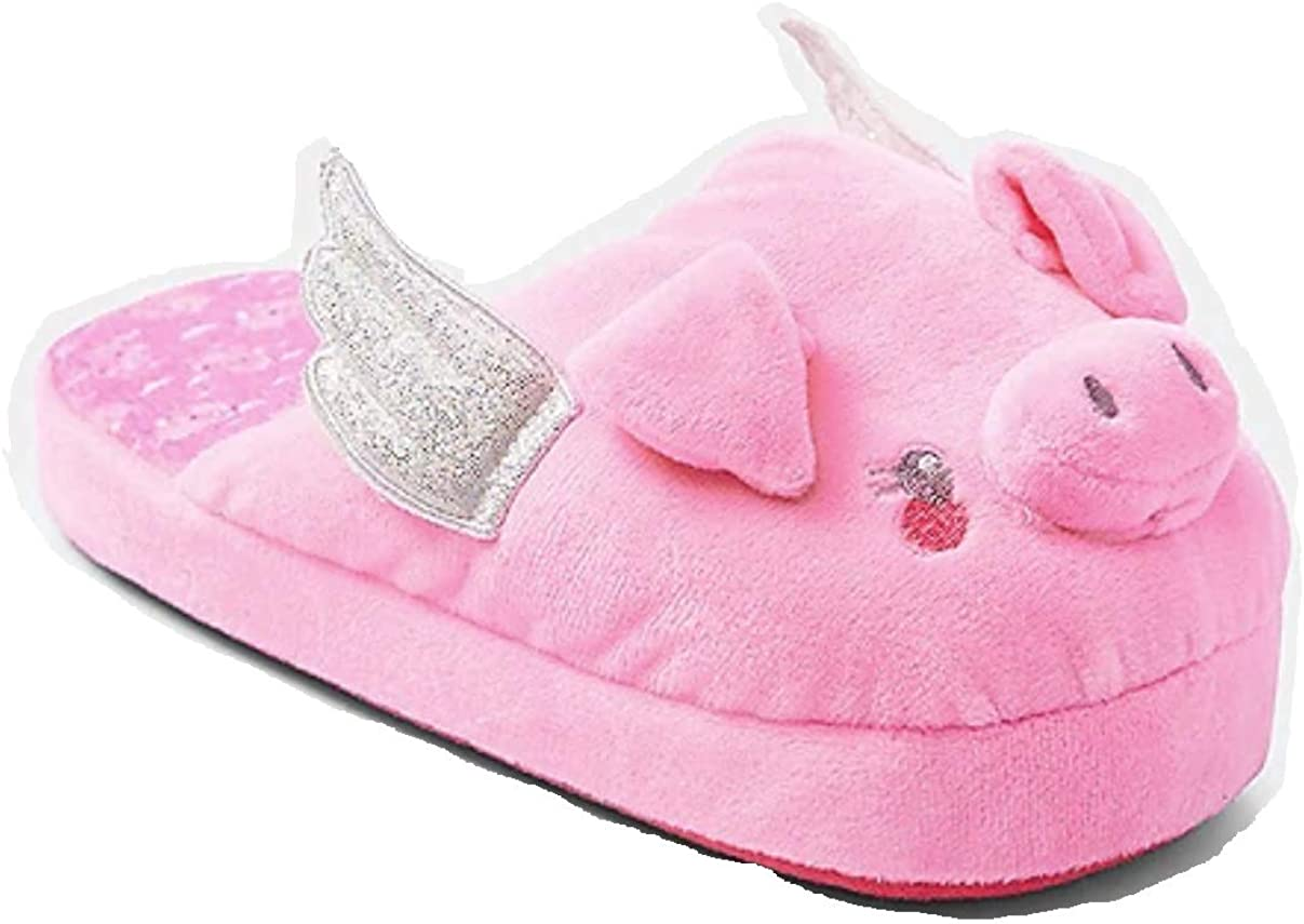 Justice Pink Flying Pig Slippers