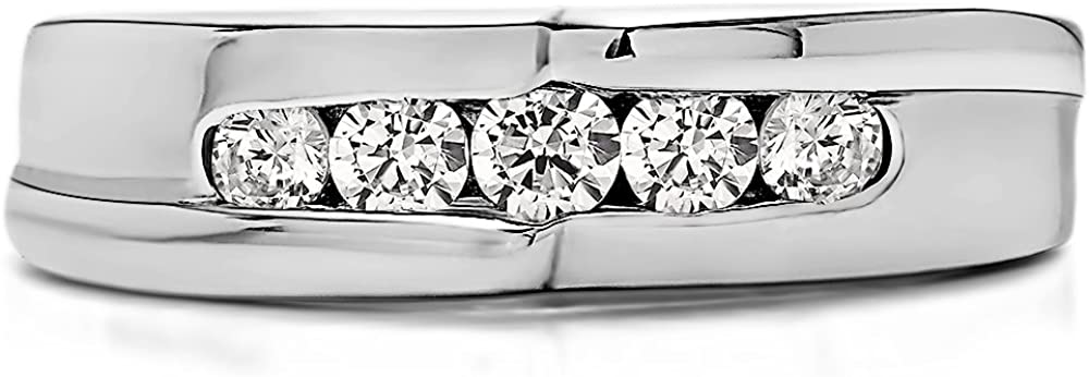 Yellow Silver Mens Wedding Ring Charles Colvard Moissanite 0.23Ct Size 3 To 15 in 1//4 Size Intervals