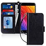 FYY Case for iPhone 7 Plus/8 Plus, PU Leather Wallet Phone Case with Card Holder Flip Protective Shockproof Cover [Kickstand