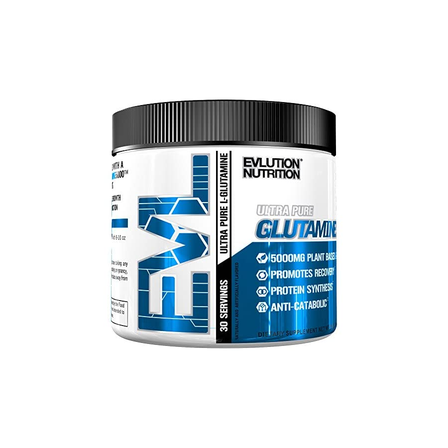 Evlution Nutrition L Glutamine 5000 5 Grams of Pure L Glutamine in Each Serving Unflavored Powder (60 Servings)