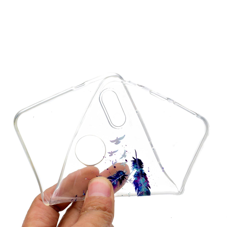 Design B Silicone Morbide Trasparente con Disegni Mandala Fiore Custodia Morbido Trasparenti Antiurto Gomma TPU Case Ultra Slim Caso Protettiva HopMore Compatible for Cover LG K9 LG K8 2018