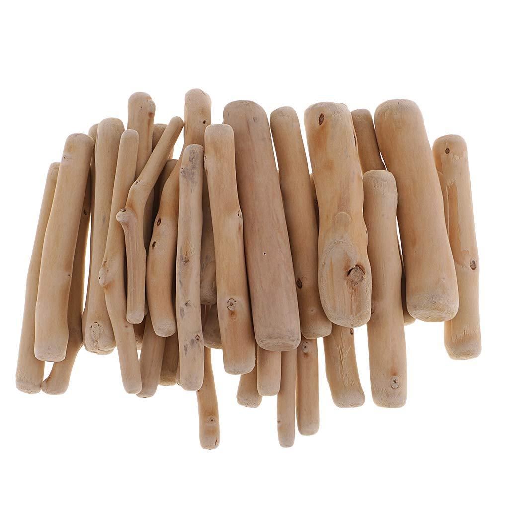 Pack Nat/ürliche Treibholz Holz St/ücke Unfertige Naturholz Handwerk Bastelst/äbe Platz St/äbe Sticks Holzst/äb 4,2-8 cm Oval FLAMEER 250g