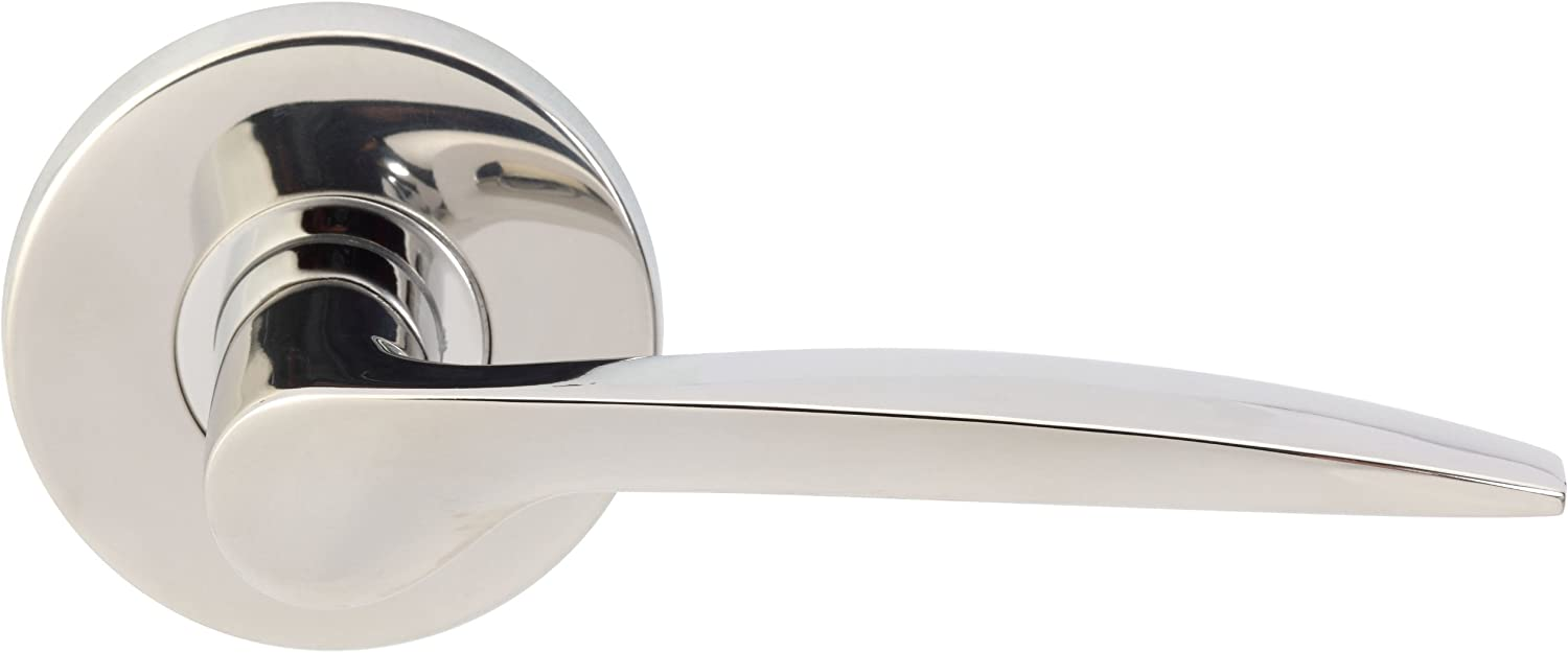Polished Stainless Steel INOX RA351L62-32 Rosette Privacy Set with Toronto Lever and 2-3//8-Inch Backset