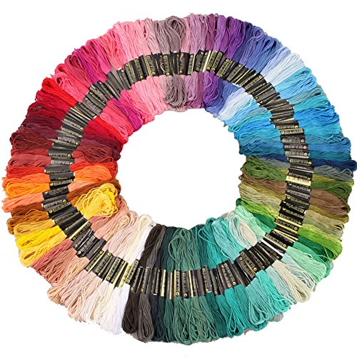 Zicome Rainbow Color Embroidery Floss Thread for Cross Stitc