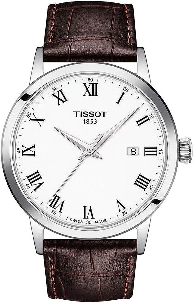 Tissot orologio Classic Dream 42mm Bianco quarzo Acciaio T129.410.16.013.00