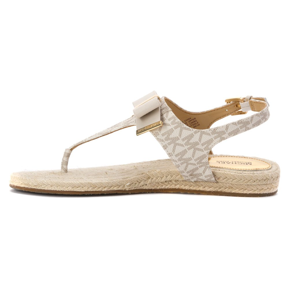 88c2fd83a58 Amazon.com: Michael Michael Kors Meg Thong Signature Sandals In Vanilla  size 5: Shoes