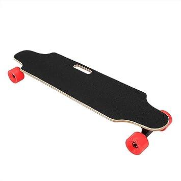 Qulista Skateboard Eléctrico Longboard de 4 Ruedas 10-20km/h Monopatín con Control Remoto Inalámbrico para Niños, Adultos (Rojo): Amazon.es: Deportes y aire ...