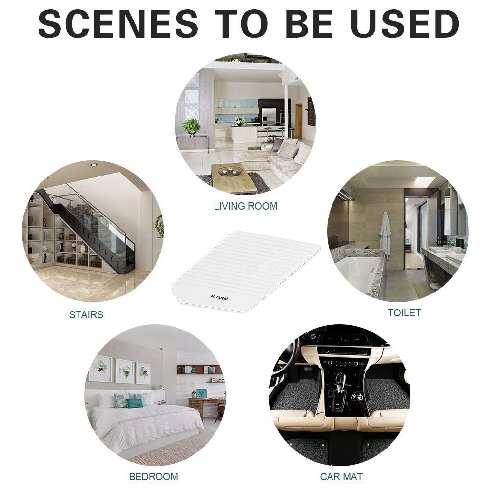 Rug Gripper -Anti Curling Non Slip Area Reusable Carpet Sticker Keeps Your Rug in Place and Makes Corners Flat Removable Washable Pad for Tile Floors Black 4pcs Wall Carpets Floor Mats