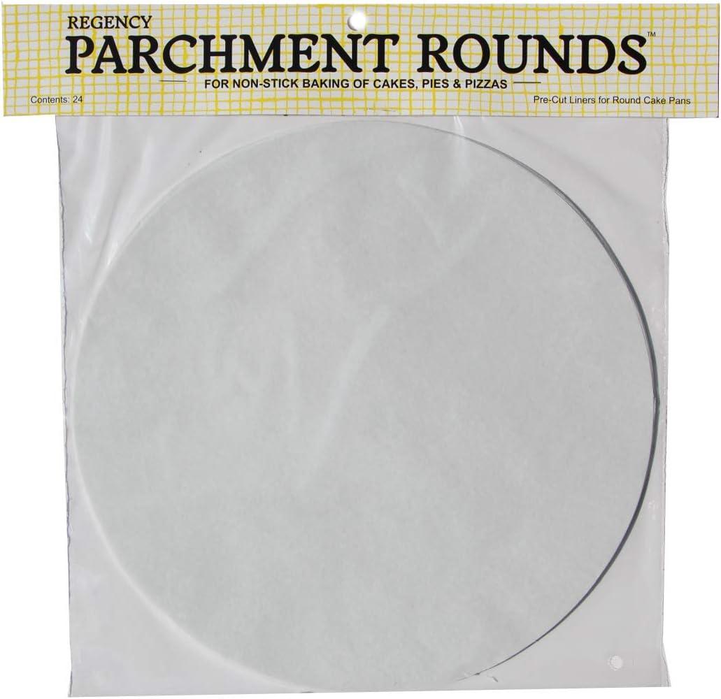 Set of 24 10-Inch White Regency Wraps RW1110 Round Parchment Paper