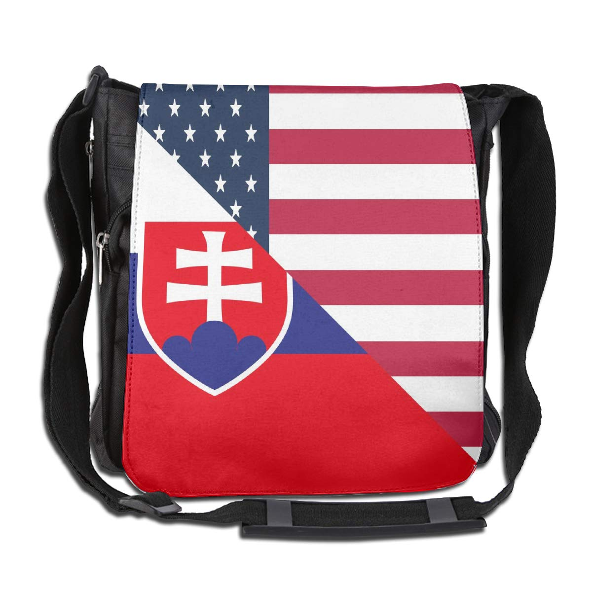 Unisex Classic Satchel Messenger Bags American And Slovenia Flag Crossbody Shoulder Bag School Bags For School//Work//Trips