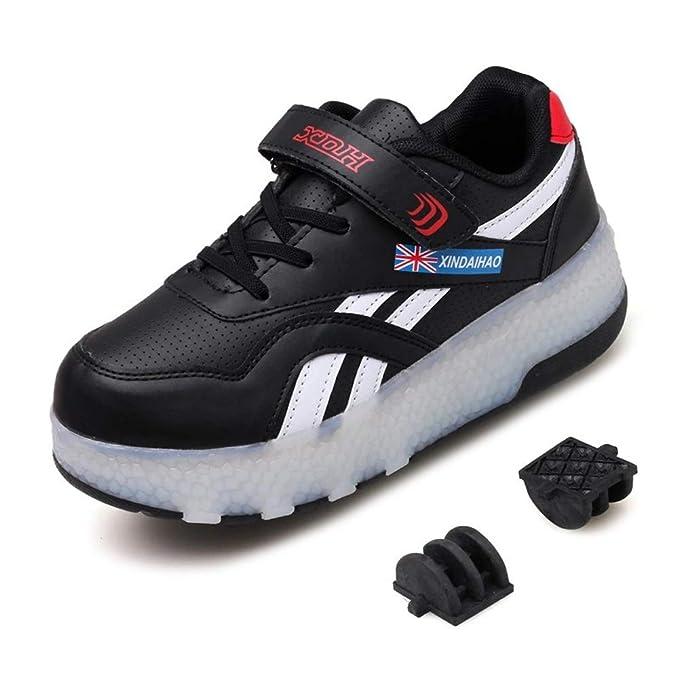 REWASD Patines de ruedas Zapatos con ruedas dobles Ruedas