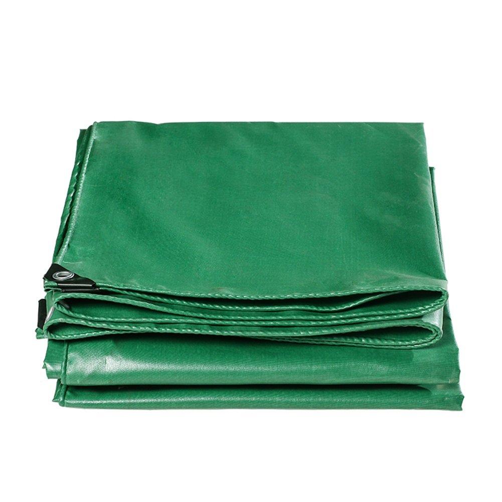 CHAOXIANG オーニング 厚い 両面 防水 日焼け止め 耐高温性 耐寒性 耐摩耗性 防塵の 耐食性 PVC 緑、 520g/m 2、 厚さ 0.44mm、 17サイズ (色 : 緑, サイズ さいず : 4×8m) B07DB7JG6G 4×8m|緑 緑 4×8m