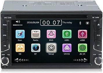 Radio 2 Din con navegador GPS, DVD, USB, SD y Bluetooth para ...