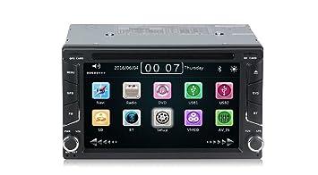 Radio 2 Din con navegador GPS, DVD, USB, SD y Bluetooth para coche