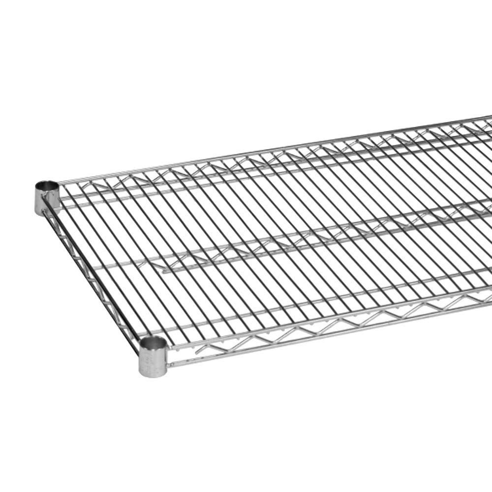 Quantum Single Wired Shelf for Shelving Kit, 800lb, NSF, Chrome by Quantum Food Service