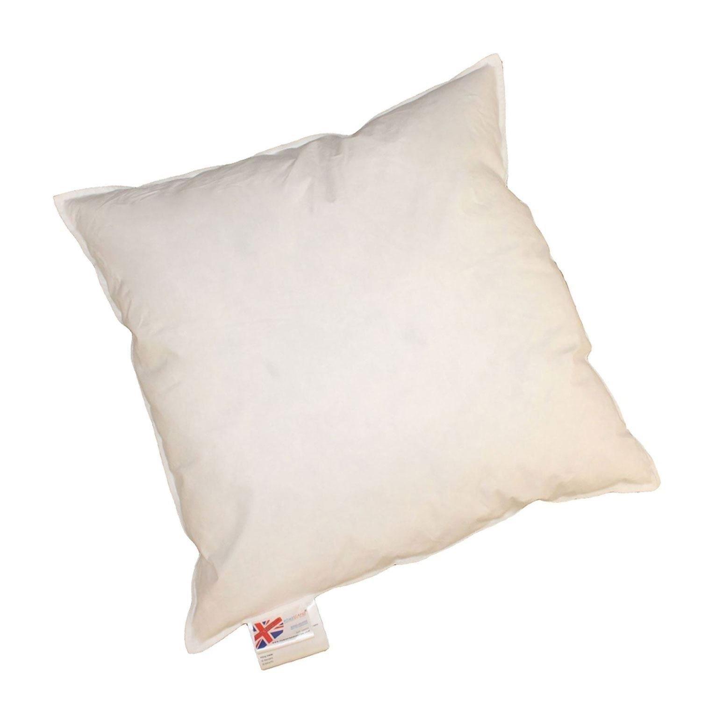 Homescapes Daunenkissen 80 x 80 cm Weiß, Innenkissen mit natürlicher Kissenfüllung aus 100% Entendaunen mit Inlett aus 100% Baumwolle