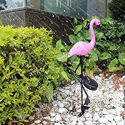 XHSHLID Energía Solar Pink Flamingo Lawn Light Decoration Estaca de jardín Lámpara de Paisaje Luces de Noche al Aire Libre Party Deco Luces de Animales: Amazon.es: Hogar