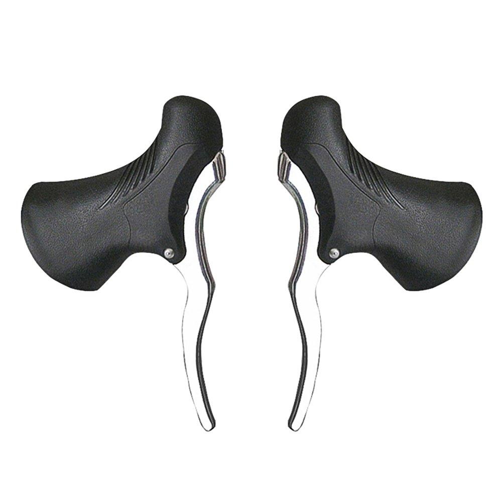 Lixada Paar Leichte Aluminium Fahrradbremsgriff, MTB Bremshebel Vorne und Hinten Bremshebel Drop Lenker Set Lixada1
