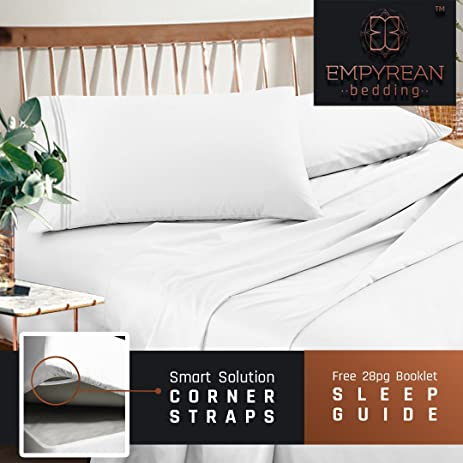 premium full double size sheets set white hotel luxury 4piece bed