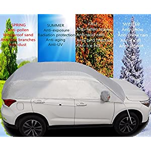 "Safe View Half Size Car Cover Top Waterproof /Windproof/Dustproof/ Windshield Cover Snow Ice Winter Summer For Sedan SUV (SUV YL(185""-192"")"