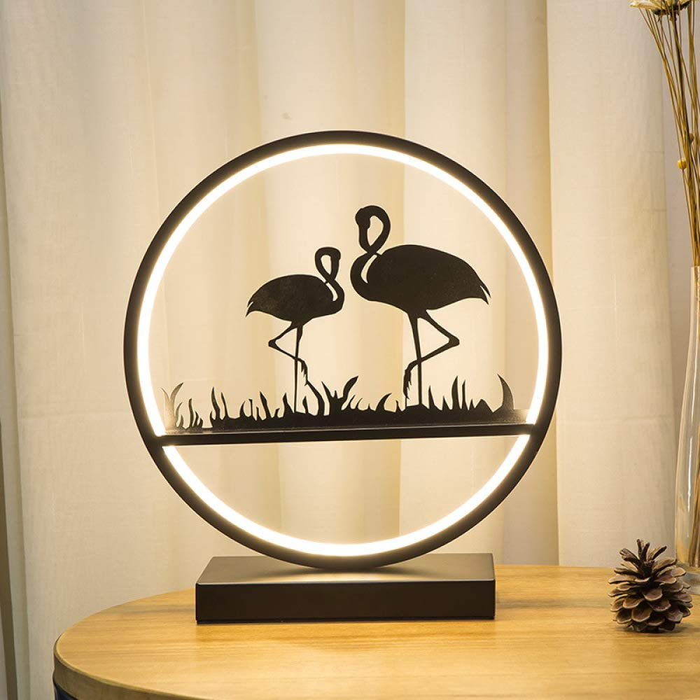 Dormitorio lámpara de mesa cama hogar luz cálida oficina ...