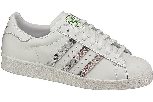 adidas Superstar 80 s W m25137 – Zapatillas para Mujer, Color Blanco, Talla