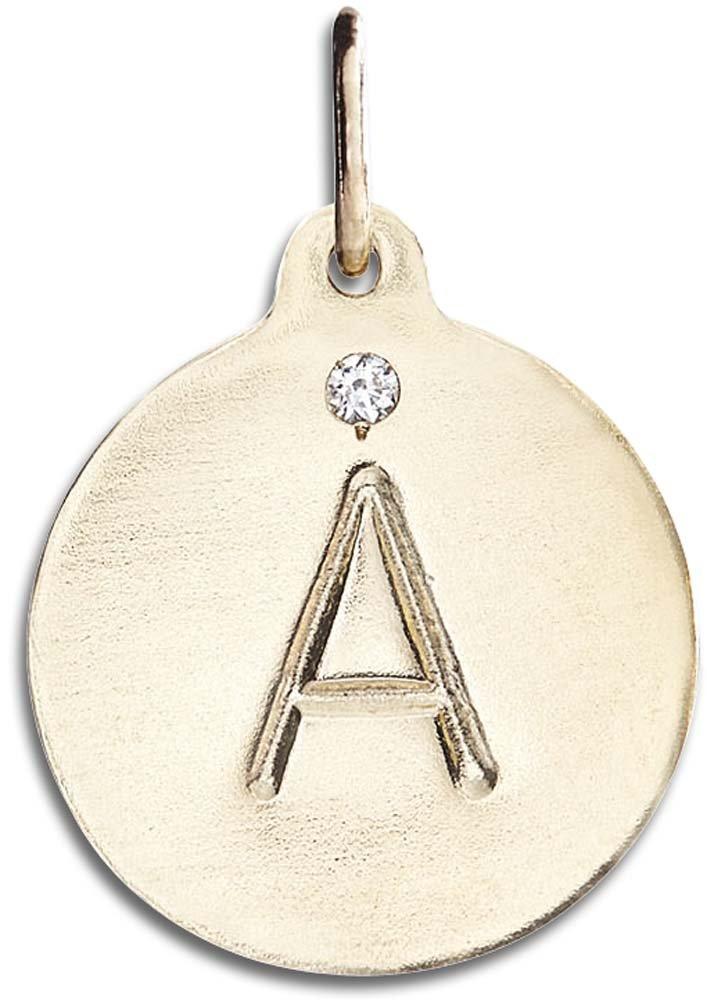 Helen Ficalora ''A Alphabet Charm with Diamond Yellow Gold