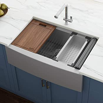 Ruvati Verona RVH9200 Workstation Farmhouse Sink