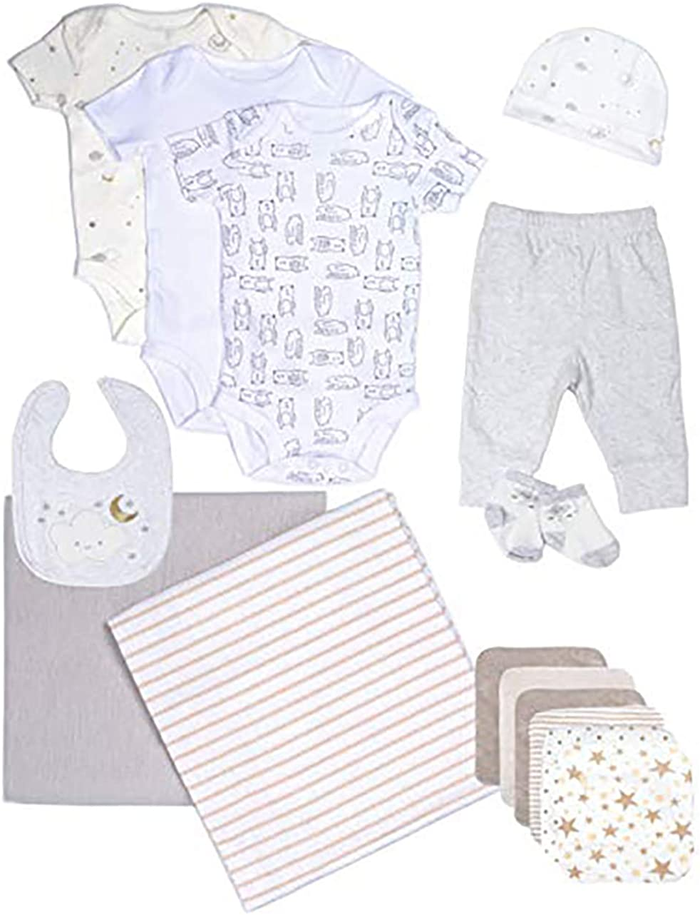 Baby Essentials for Newborn, 15 Piece Layette Gift Set for Boys and Girls